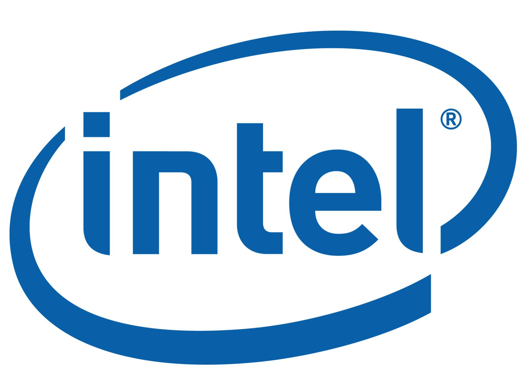 Intel white logo